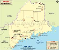 map of maine with cities map of maine cities places to visit in maine map of maine
