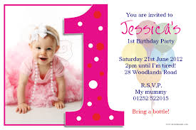 Invitation Cards For Birthday Party Template First Birthday Party Invitation Templates Vertabox Com