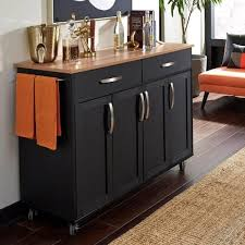black kitchen cabinets home depot homestyles brookshire black kitchen cart with wood