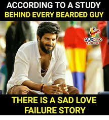 Failure Meme - according to a study behind every bearded guy laughing there is a