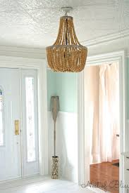 Beaded Turquoise Chandelier Beaded Chandelier Aged Wood And Chandeliers On Pinterest Creative