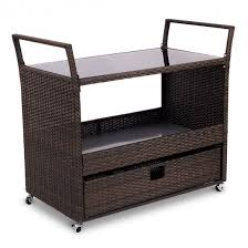 wicker kitchen furniture rolling portable rattan wicker kitchen trolley cart kitchen
