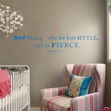 aliexpress com buy art wall decals vinyl decal quote and though aliexpress com buy art wall decals vinyl decal quote and though she be but little she is fierce shakespeare wall stickers 46