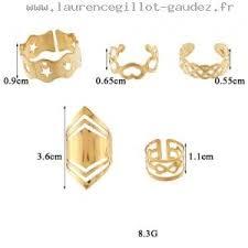 chambre de compensation tendances bijoux infini coeur géométrique pentagram ring set or