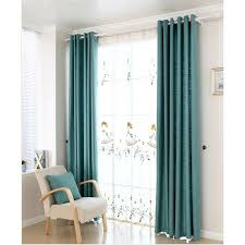Curtains For A Nursery Discount Blue Linen Cotton Blend Nursery Curtains