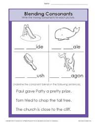 consonant blends worksheets phonics