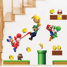 Home Decor Dropship Cartoon Stickers Super Mario Wall Stickers For Kids Rooms Children