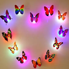 nai yue wall stickers home decorations 3d butterfly rainbow pvc