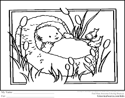 baby moses coloring page eson me