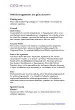 settlement agreements hr inform