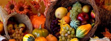 cornucopia thanksgiving fruits flowers cover holidays
