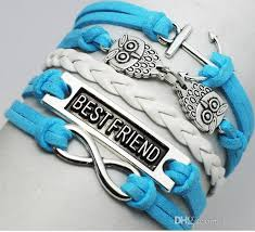 bracelet with anchor charm images 7 styles choose infinite best friend anchor charm fashion bracelet jpg