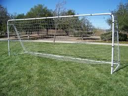 pass 18 x 7 x 5 ft official size heavy duty steel soccer goal w