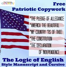 free patriotic copywork logic of english style u2013 only passionate