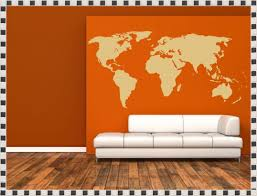 world map wall decal with pins home decorations ideas