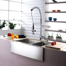 High End Kitchen Faucet Sinks High Neck Lever Sink Taps Pedestal White Current Power