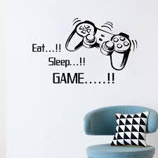 eat sleep game vinyl art wall papers sale gamer xbox ps3 boys