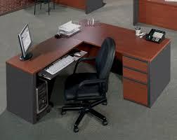 Oak Reception Desk Light Brown Varnished Oak Wood Desk With Drawers And Bar Table Top
