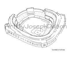 new york yankee stadium print