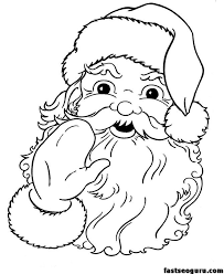 25 santa coloring pages ideas printable