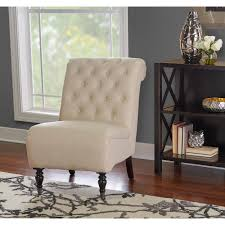 Accent Chair Linon Home Decor Cora Dark Espresso Fabric Roll Back Accent Chair