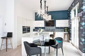 cuisine peinte peinture murale cuisine bleu idée de modèle de cuisine