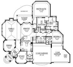 corner lot floor plans horseshoe bay 4690 3 bedrooms and 3 baths the house designers