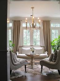 Off White Chandelier Traditional Living Room Design With Natural Off White Linen Chairs