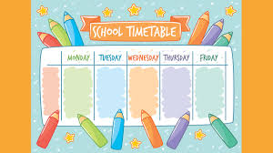 back to timetable templates part 1 active kids tv
