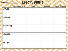 weekly preschool lesson plan template lesson planning