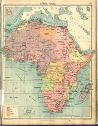 Political Map Africa by 1922 Africa From Comparative Atlas Of Physical And Political