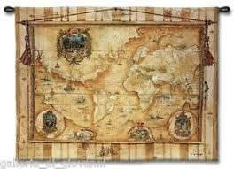antique map world world vintage map wall tapestry 53 x 40 antique style ebay