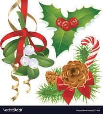christmas mistletoe christmas tree mistletoe and royalty free vector image