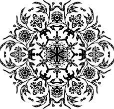 floral ornament clip domain vectors