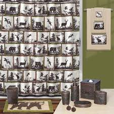 Bath Sets With Shower Curtains Cabin Decor Accessories Whitetail Cabin Place