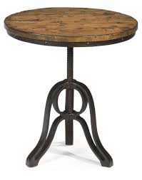 Industrial Bistro Table Industrial Style End Table With Adjustable Height By