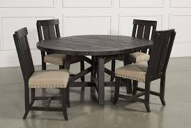 jaxon 5 piece extension round dining set w wood chairs living spaces