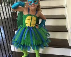 Blue Ninja Turtle Halloween Costume Orange Teenage Mutant Ninja Turtle Tutu Dress Orange Tmnt