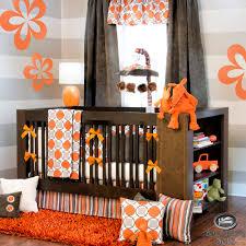 Nursery Bedding For Girls by Baby Boy Neutral Orange Grey Modern Crib Nursery Newborn Best