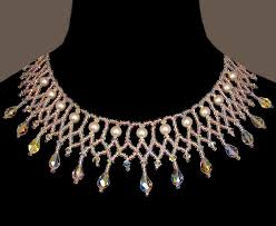 pattern crystal necklace images Free pattern for beaded necklace crystal ice beads magic jpg