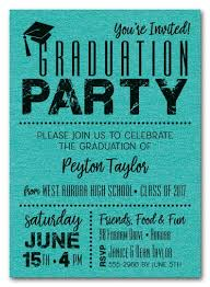 graduation party invitations shimmery teal dotted graduation party invitations