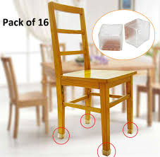 chair foot covers 16pcs square silicone chair leg caps pads table covers wood