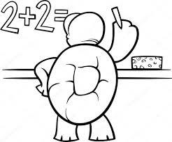 coloring page turtle turtle at blackboard coloring page u2014 stock vector izakowski