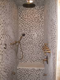 shower bench ideas bathroom contemporary with mosaic tiles benches