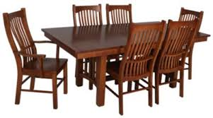 A America Laurelhurst  Piece Solid Oak Mission Dining Set - Mission dining room table