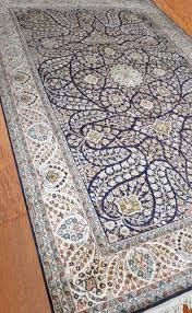 Kashmir Rugs Price Buy Kashmir Pure Silk Blue Indian Rug Sm10 Navyasfashion