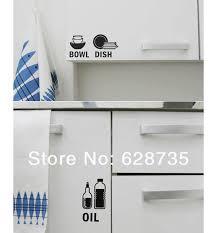 Kitchen Cabinet Decals Kitchen Wall Stickers Waterproof Vinyl Wall Decals For Kitchen
