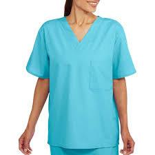 unisex sleeve v neck scrub top with pocket walmart
