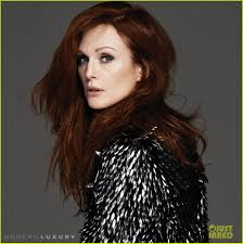 juliet moores hair color julianne moore shows lots of leg cleavage for beach magazine