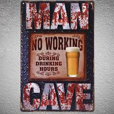 home decor hours wholesale no working during drink hours metal signs vintage home